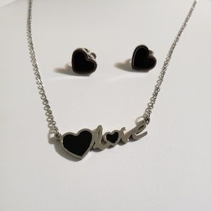 Jewelry - Stainless Steel Love ❤️  Necklace & Earring Set